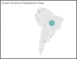 map explores the South America view