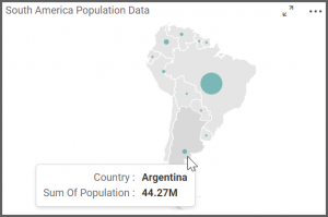 map allows to view few countries to see their population data upon hovering