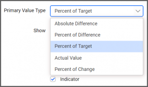 primary Value Type shows five options in the drop-down list