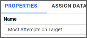 option to rename properties tab to Most Attempts on Target using the settings menu