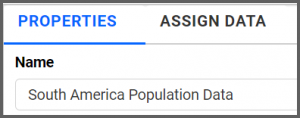 chart view displays the visualization of the assigned data source to the choropleth widget