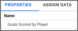 option to rename properties tab from the default Grid1 to Goals Scored by Player using the settings menu