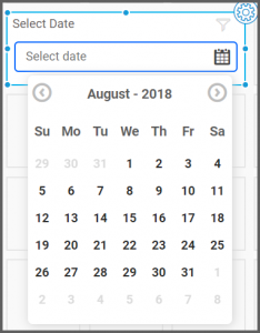 dashboard view allows to select the date range from the date picker