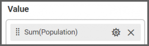 option to drag and set the Population field to the Values into the Assign Data tab of the settings menu