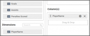 option to drag and set the PlayerName field to the Columns into the Assign Data tab of the settings menu