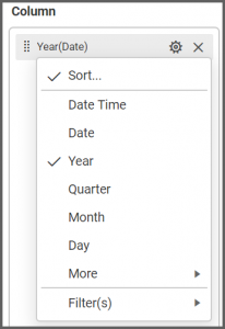 Options button that appears beside the Date field and select Day