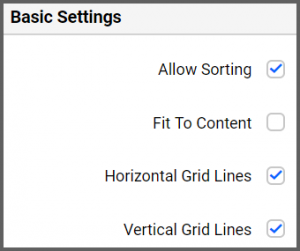 Basic Settings option helps to customize the widget