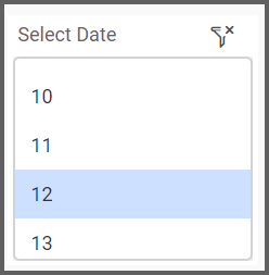 dashboard view allows to select the date range from the list box