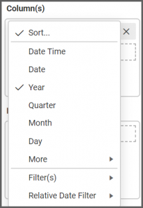 More options shows to change the date settings