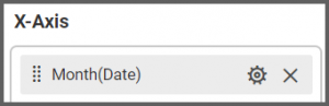 field's name shows the Month(Date) chosen