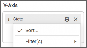 choose Options button where we can to apply filter to the data