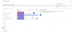 jira dashboard template of Bold BI with notification banner