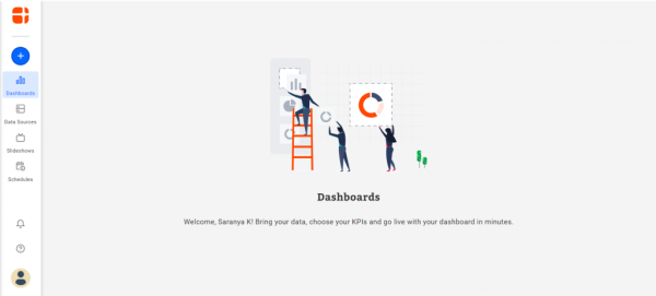 homepage view of Bold BI for jira dashboards illustration with jira connector.
