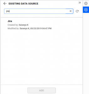 existing-shared data source view in Bold BI dashboards