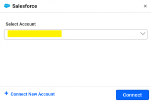 salesforce accounts window of Bold BI dashboards for measuring campaign performance with mailchimp and salesforce data