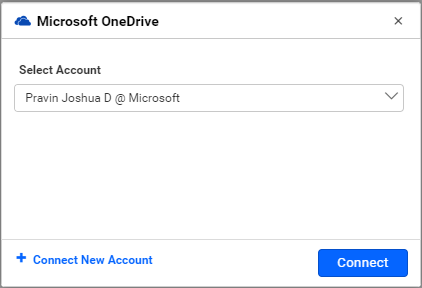 Configuring OneDrive connection in Bold BI wizard