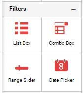 Filter widgets available in Bold BI