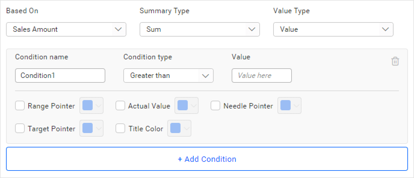 rule-based conditional formatting in bold bi widget