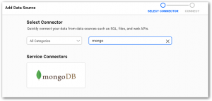 Search MongoDB data source in BoldBI data sources