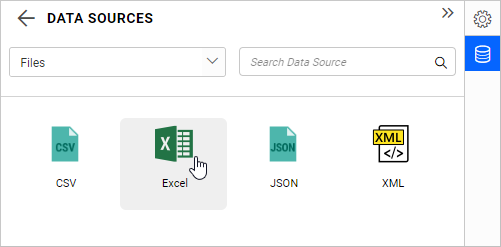 File-type data source listing page