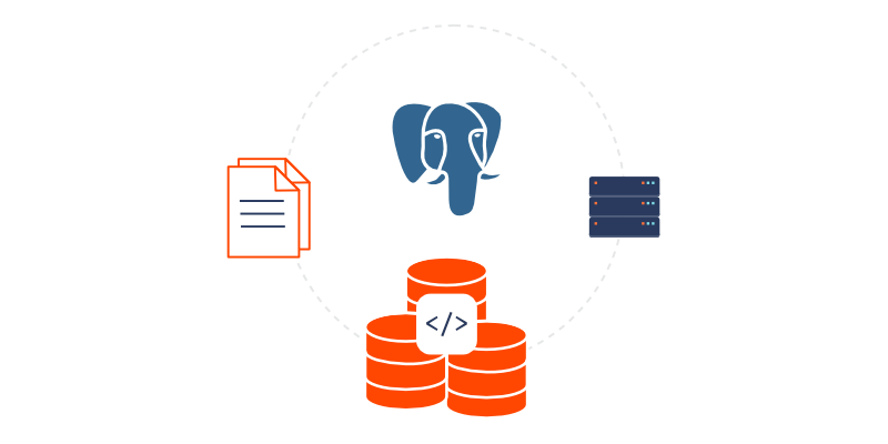 illustration for postgresql as metadata storage