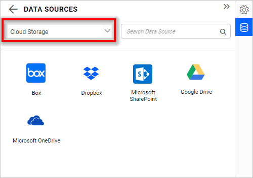 Data source listing page