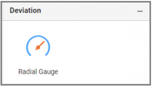 Gauge widget section