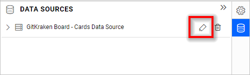 Editing the data source