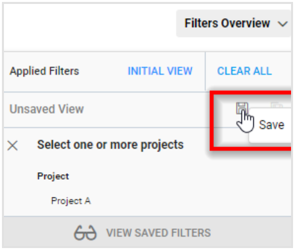 Save Filter View Configuration