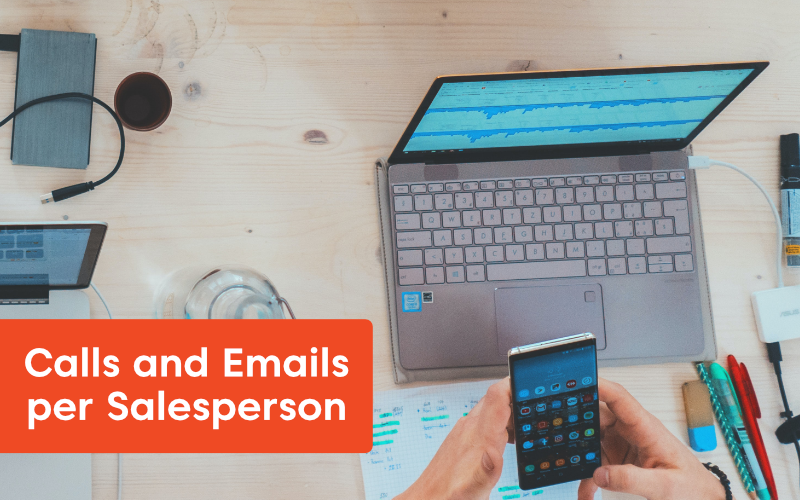 Calls and Emails per Salesperson - 15 Sales KPIs to Drive Business Toward Success