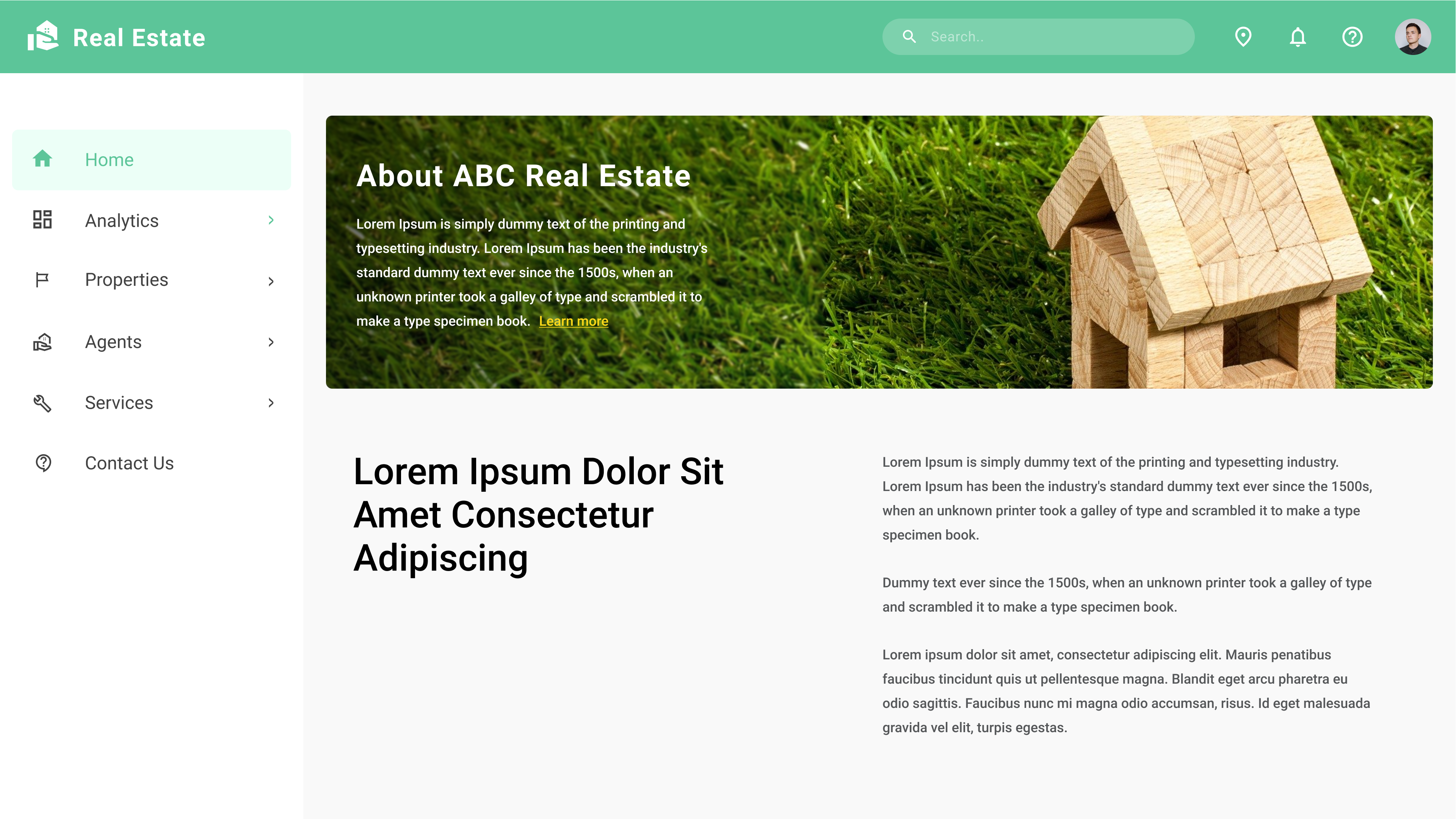 Sample Website of a Real Estate Company