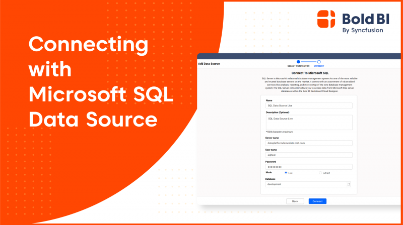 How to Connect SQL Server Database with Enterprise BI - Bold BI Beginners' Tutorial